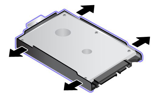illustration of drive mounted in bracket