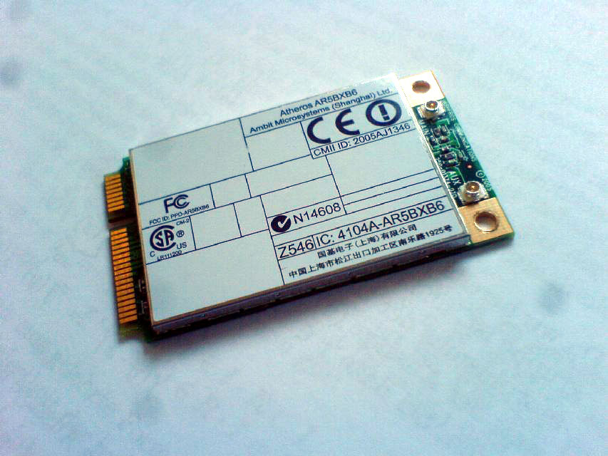 Atheros mini-PCIe WiFi Adapter